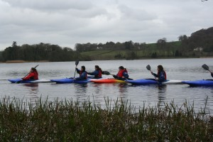 Kayaking on Carlingwark Loch