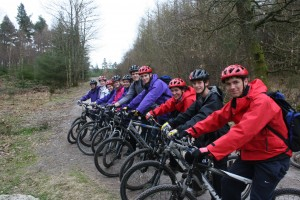 Mountain biking in Dalbeattie Forest