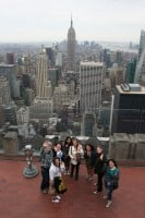 At the top of the Rockefeller Center
