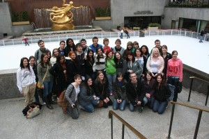 Northern Valley and Dumfries & Galloway students at the Rockefeller Center