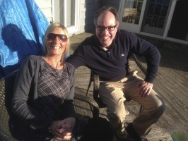Fiona and Chris enjoying the sunshine!