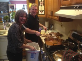 Elaine & Steve hosted us for a delicious thanksgiving style meal.