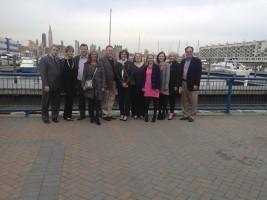 Chaperone team USA/Scotland prepare to board 'The Spirit of New Jersey'
