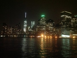 Great views of New York City by night from the boat