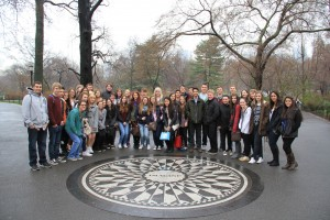 Strawberry Fields in Central Park, New York remembering John Lennon